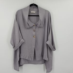 LUUKAA Lagenlook Linen Jacket Top Sz8